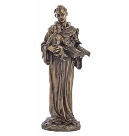 St. Anthony and Child, Cold-Cast Bronze, 10.5inches