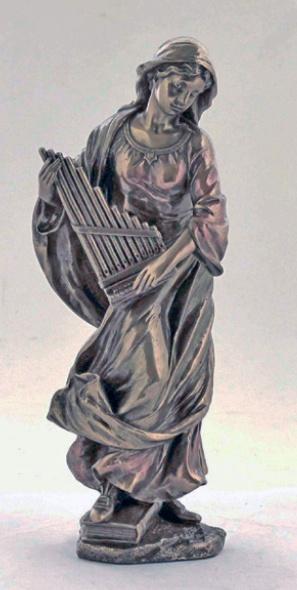 St. Cecilia, Cold-Cast Bronze, 8.5inches