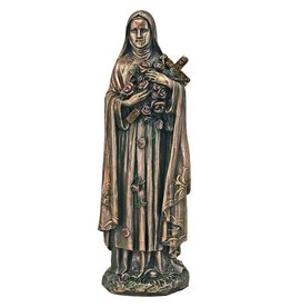 St. Therese in cold cast bronze, 8inches