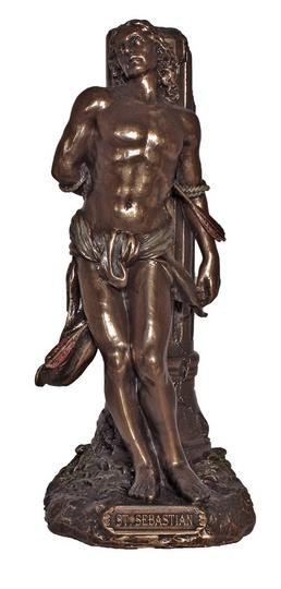 St. Sebastian, cold cast bronze, 8inches