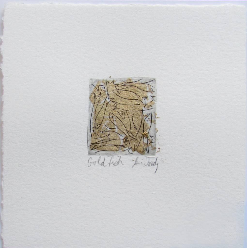 Lori Doody Lori Doody-Mini Capelin Etching/Gold Leaf=1.25x1