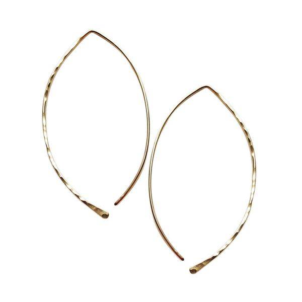 Strut Jewelry Strut-Hammered Leaf Hoops