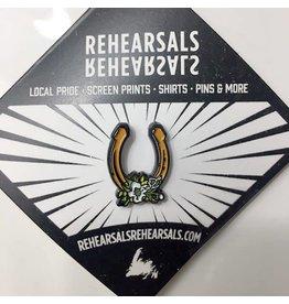Jud Haynes Rehearsals-Horseshoe Enamel Pin