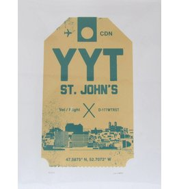 Jud Haynes Jud Haynes-Luggage Tag Print 8x10- Cream