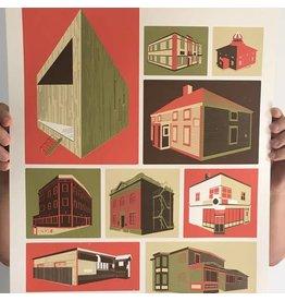 Jud Haynes Jud Haynes-Buildings Print 16x20