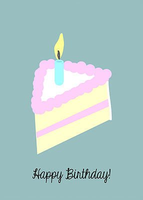 Junk Junk-Card-Bday Cake