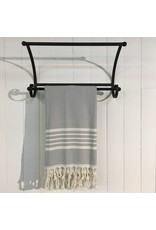 One Sky Inc. One Sky- Five Stripes Body Towel- Shades of Grey /Black