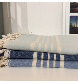 One Sky Inc. One Sky- Five Stripes Towel- Shades of Blue