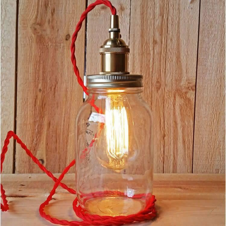 Joyful Habitat Joyful Habitat-Mason Jar Kit-Brass/Red