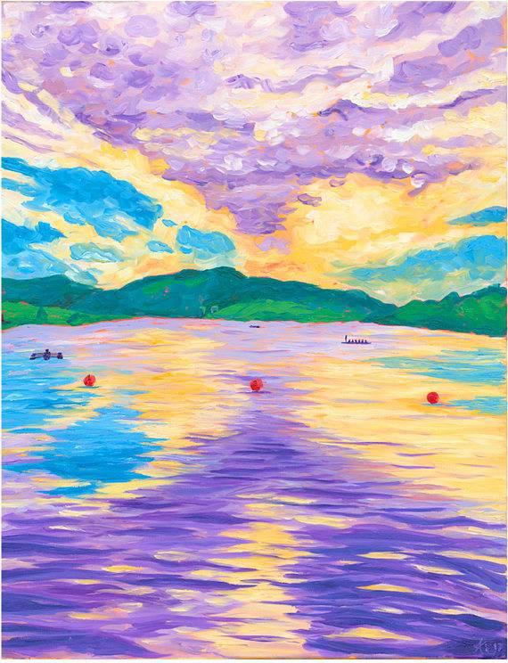 Kaila Erb Art&Illustration Kaila Erb-Rowing in Quidi Vidi-11x14