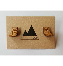 Ugly Bunny Ugly Bunny-Wood Studs-Owl Stud