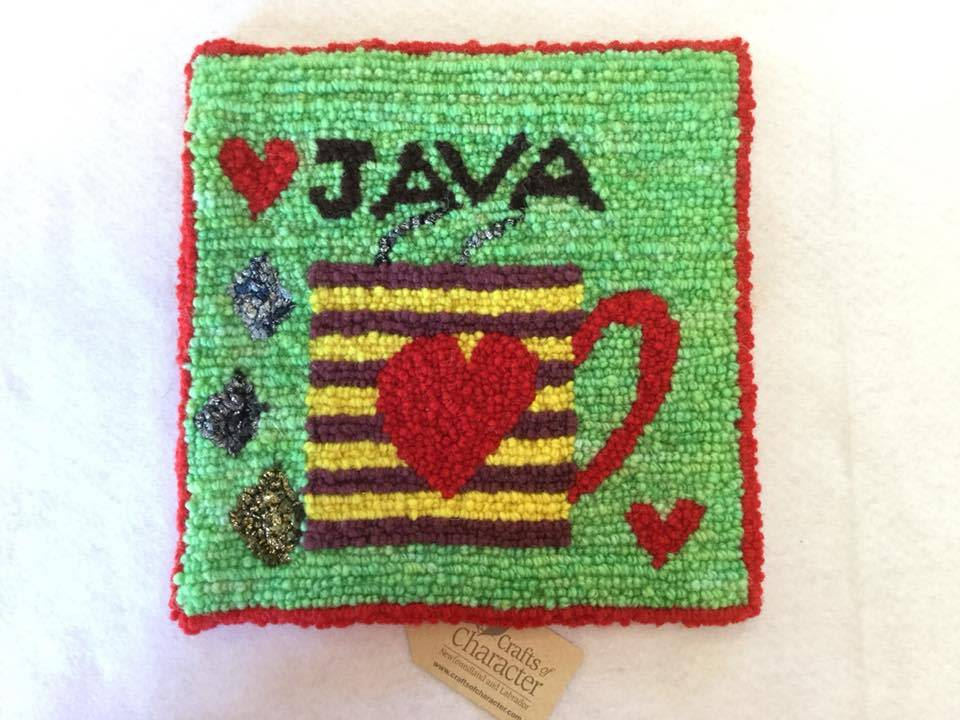 Newfoundland Original Hooked Rugs Paula Flood-Rug Hooking Java Coffee