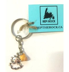 Wellywoo Rep The Rock-Sun&Clouds Keychain