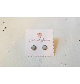 Velvet Snow Velvet Snow-Stainless Steel-Button Studs