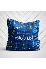 Doodle Lovely Doodle Lovely-Life's an Ocean Pillow