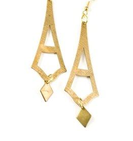 HEN Jewelry HEN-Sol Earrings -Brass/Gold Plate