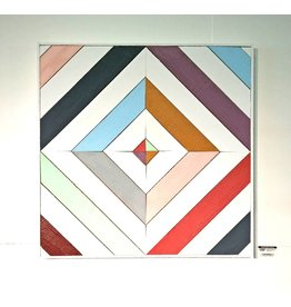 Jess Waterman-White w/Colors-Wooden Quilt-2'x2'