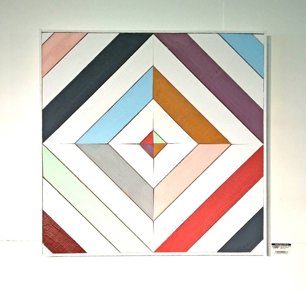 Jess Waterman White W Colors Wooden Quilt 2x2