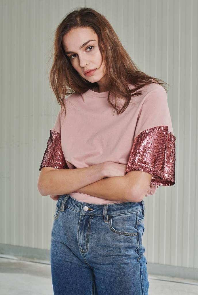 24 Colors 24 Colors-Sequin T-Shirt