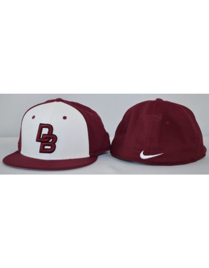 Nike Nike Maroon and white  Dri Fit, Fitted Cap