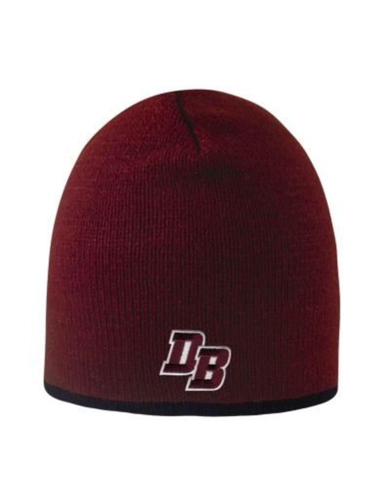 """Logo Fit """"Bright Stripe"""" Maroon Hat with a graphite or black  stripe"""