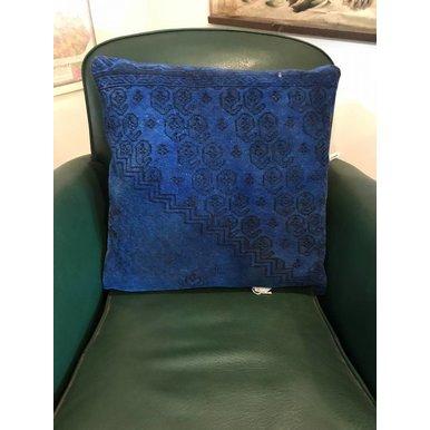Turkish Blue Overdyed Pillows