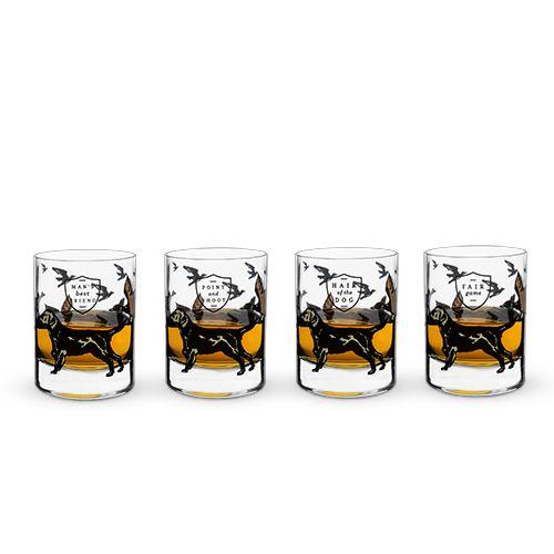 Foster & Rye Hunting Dog Whiskey Glass Set