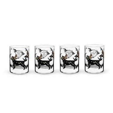 Hunting Dog Whiskey Glass Set