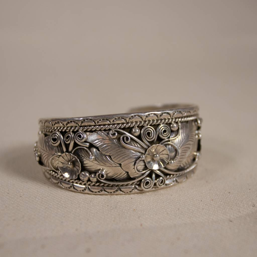 Ornate Navajo Sterling Cuff
