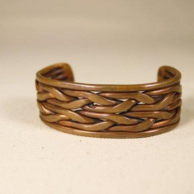 Large copper twist cuff
