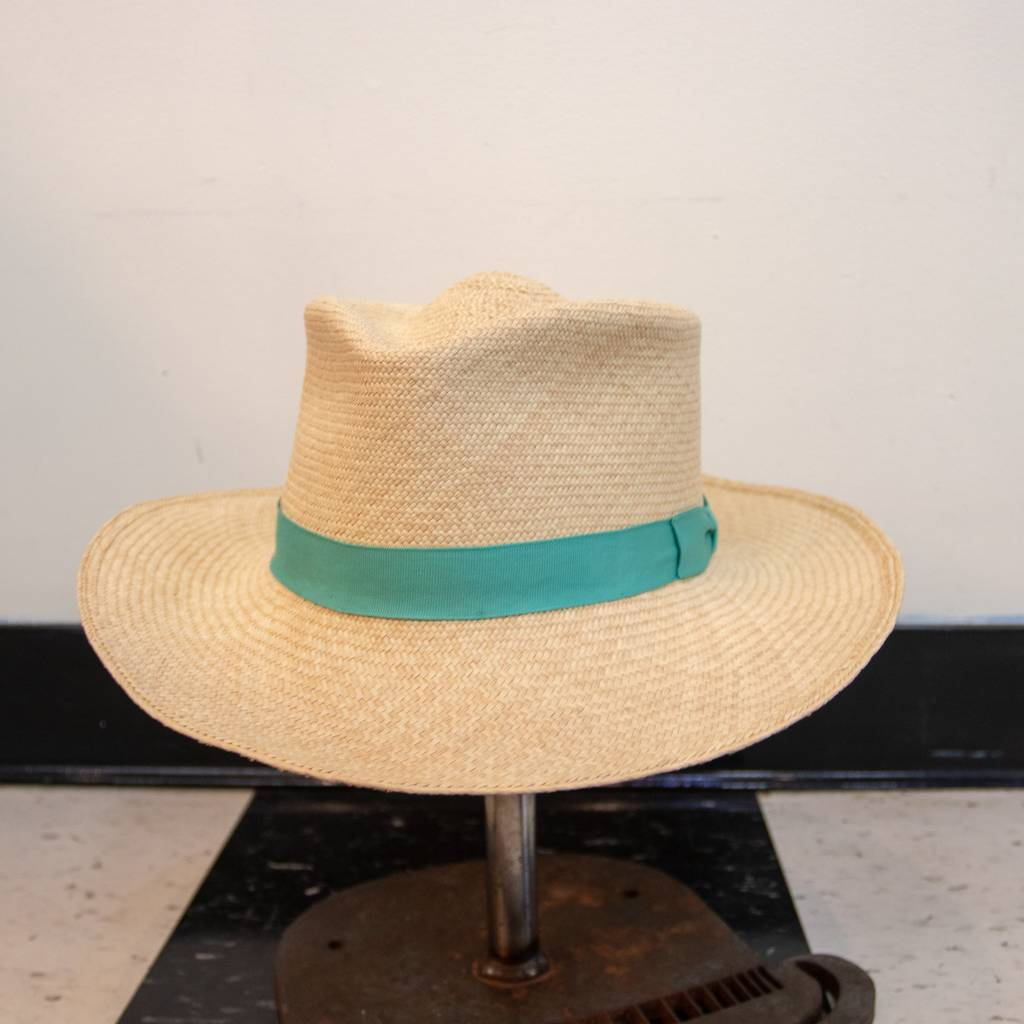 Griffin Hatters Straw Panama w/ Fabric Band