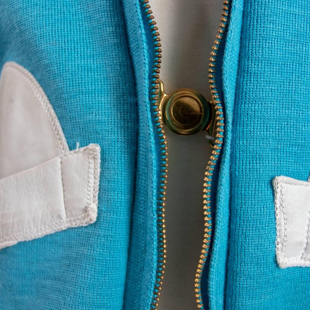 Bob Allen Womens Blue Cardigan
