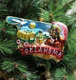 Ida Red Oklahoma Glass Ornament