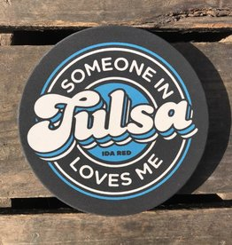 Souvenir Someone In Tulsa Loves Me Coasters - Black/Dark Blue