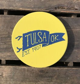 Ida Red Tulsa Pennant Coaster