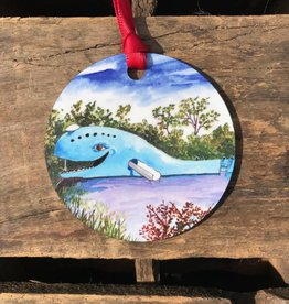 Christmas / Holiday Blue Whale Ornament