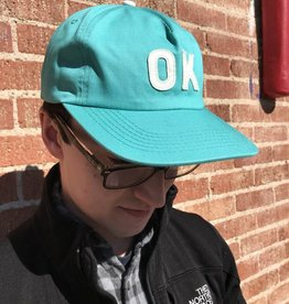 Just Ok Shop Hat, Aqua Twill