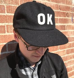 Just Ok Shop Hat, Black Wool