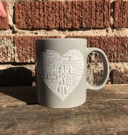 I Heart My City Mug - Grey