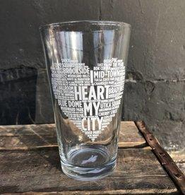 Ida Red I Heart My City Pint Glass