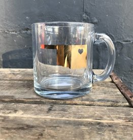 Oklahoma Heart Clear Mug - Gold