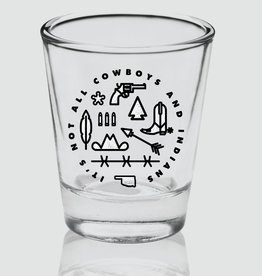 Ida Red Cowboys and Indians Shot Glass