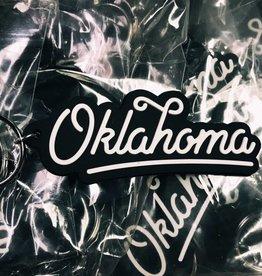 Oklahoma Script Keychain