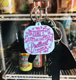 Oklahoma Girls Keychain