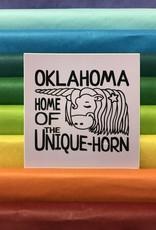 Oklahoma Unicorn Sticker