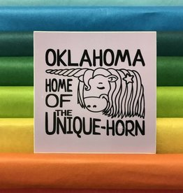 Oklahoma Unicorn Sticker