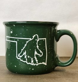 Bigfoot Green Camping Mug