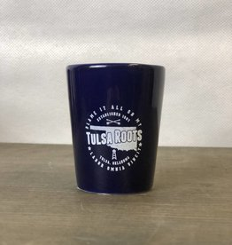 Ida Red Tulsa Roots Shot Glass - Cobalt Blue