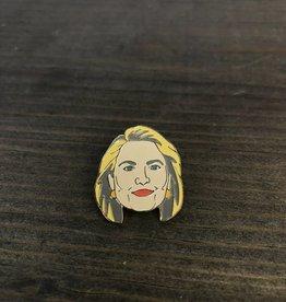Ida Red Hillary Pin