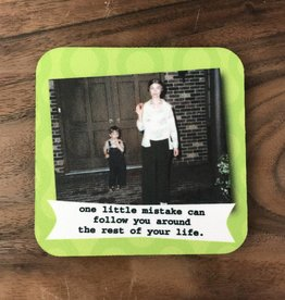 Ida Red One Little Mistake Coaster